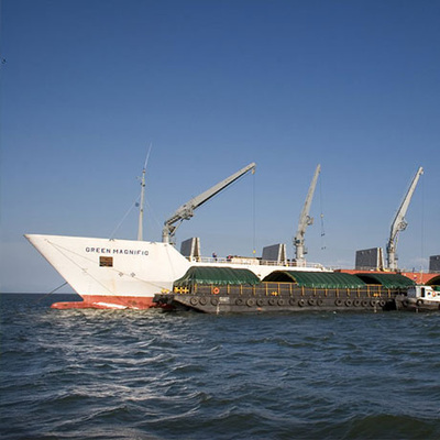 The palletised bananas are then dispatched for loading aboard the reefer vessels.