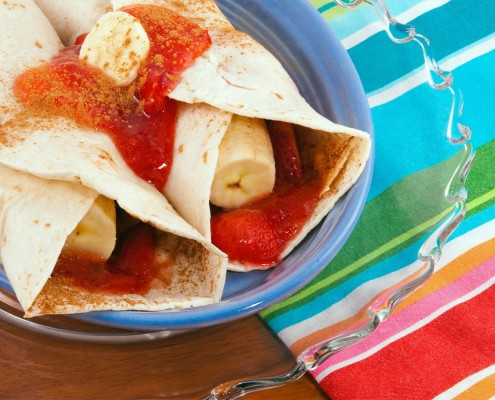 Banana tortilla snack