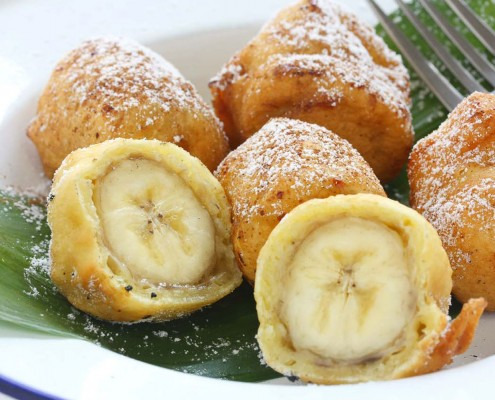 Thai fried bananas